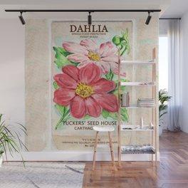 Dahlia Seed Packet Wall Mural