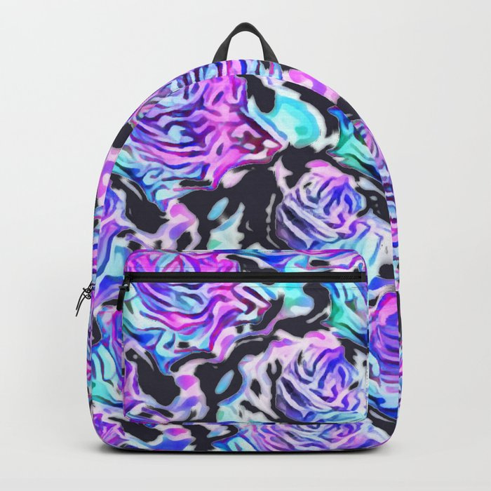 Abstract Roses (dark) Backpack
