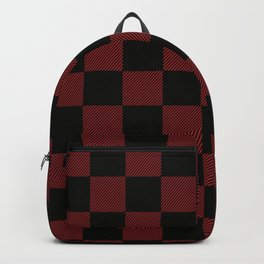 90's Buffalo Check Plaid Large Scale in Red and Black Backpack