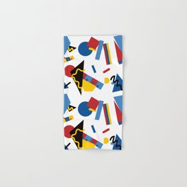 Postmodern Primary Color Party Decorations Hand & Bath Towel