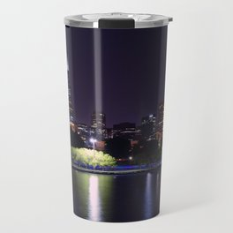 Chicago night skyline Travel Mug