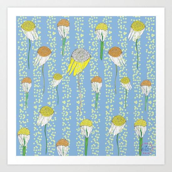 Flower Movemnet Art Print