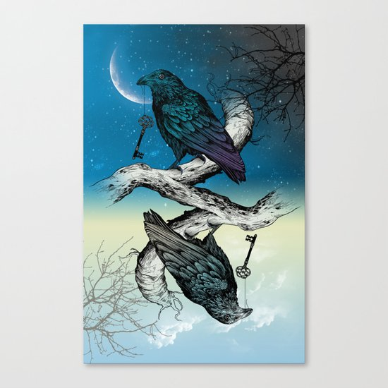 Raven's Key Night+Day Canvas Print