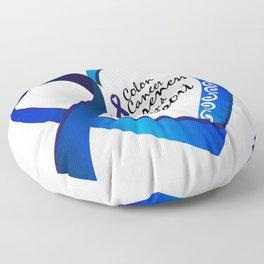 Colon Cancer Suppor Gifts Floor Pillow