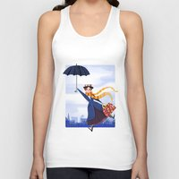 mary poppins Tank Tops featuring Mary Poppins by giovanamedeiros