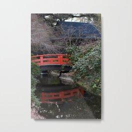 Japanese garden bridge Metal Print
