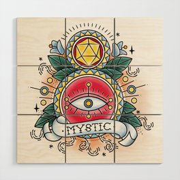 Mystic - Vintage D&D Tattoo Wood Wall Art
