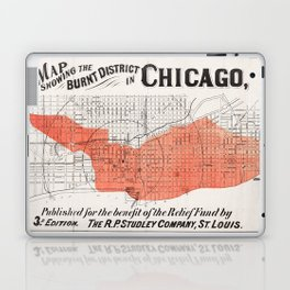 Map showing the burnt district of Great Chicago Fire Laptop & iPad Skin