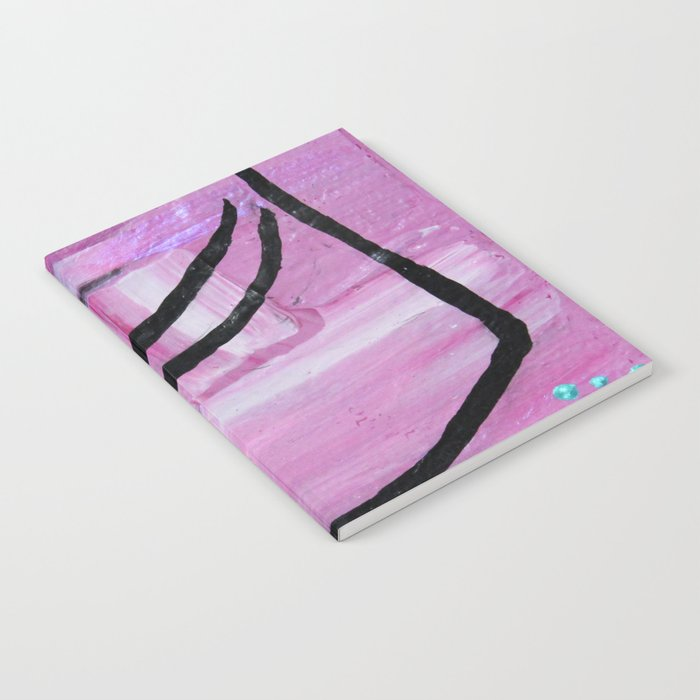 Bow pose abstract Notebook