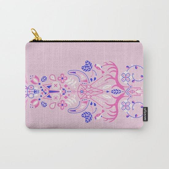 La Vie & La Mort – Pink & Periwinkle Carry-All Pouch
