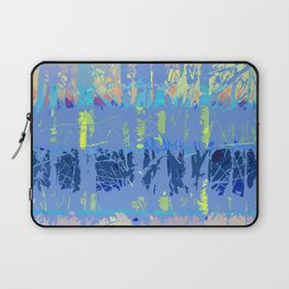 Abstract Forest Trees in Blue and Lilac Laptop Sleeve