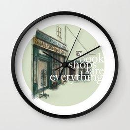 Parisian Bookshop Wall Clock