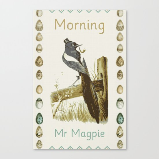 Morning Mr Magpie Canvas Print