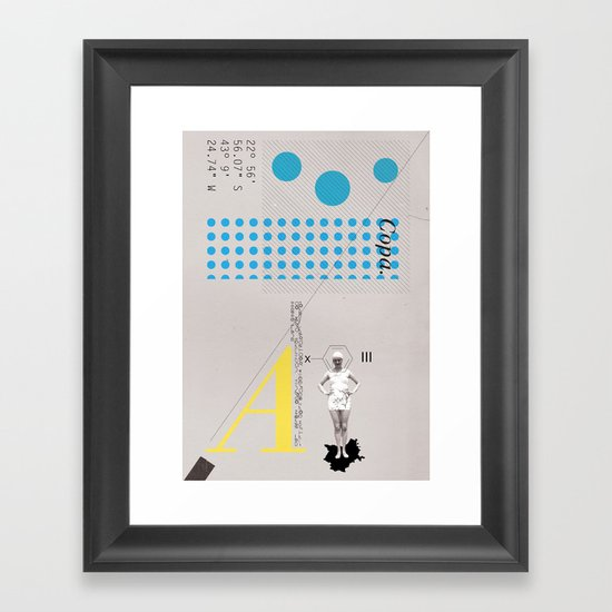 Copa. Framed Art Print