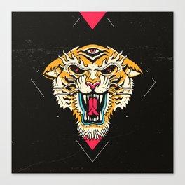 Tiger 3 Eyes Canvas Print