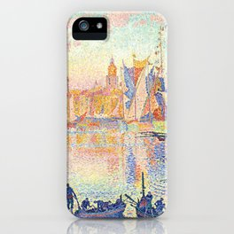 The Port of Saint-Tropez, Paul Signac, 1901 iPhone Case