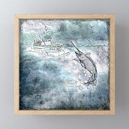 Fishing swordfish Framed Mini Art Print