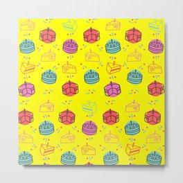 birthday pattern Metal Print