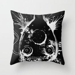 BACK TO BLACK OUD - madewithunicorndust by Natasha Dahdaleh Throw Pillow