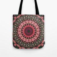 spiritual Tote Bags featuring Spiritual Rhythm Mandala by Elias Zacarias