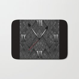 Watch. Black and white pattern . Bath Mat