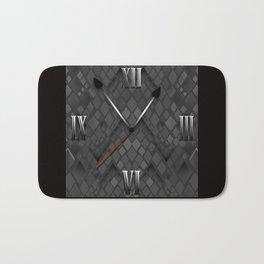 Watch. Black and white pattern . Bath Mat
