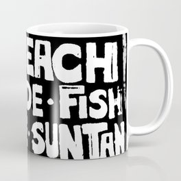 The Beach Subway Art Coffee Mug