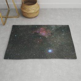 The North America Nebula in Cygnus Constellation, Brightest star Deneb Rug