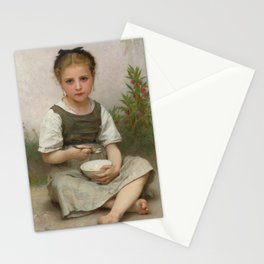 "William-Adolphe Bouguereau ""The Breakfast (Le déjeuner du matin)"" Stationery Cards"