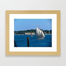 Sailboats in Portland, Maine Framed Art Print
