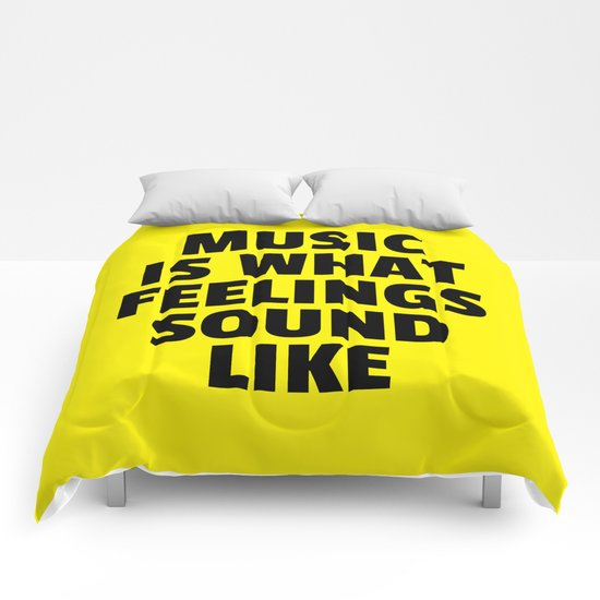 Music Feelings Sound Like Quote Comforters