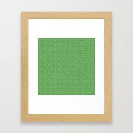 Bright Green Glitter Framed Art Print