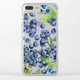 Blueberry Clear iPhone Case