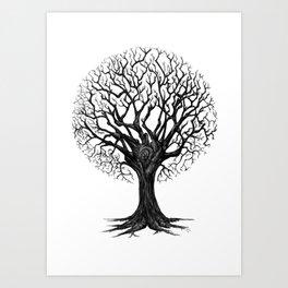 Fashionable Tree Art Print