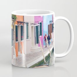 Hot Pink Houses in Burano, Italy Coffee Mug
