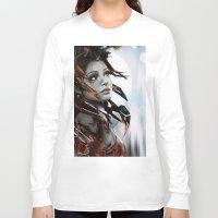 human Long Sleeve T-shirts featuring Human by Ignacio de la Calle
