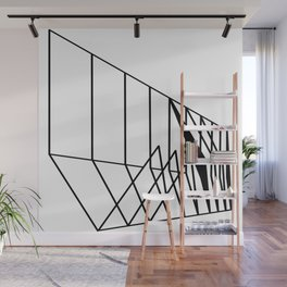 Perspective geometric line art Wall Mural