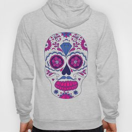 Sugar skull pattern. Mexican Day of the dead graphic. Hoody