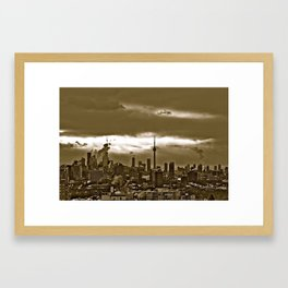 TORONTO CITY Framed Art Print