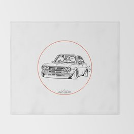 Crazy Car Art 0187 Throw Blanket