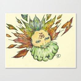 The man Behind the Sun Canvas Print