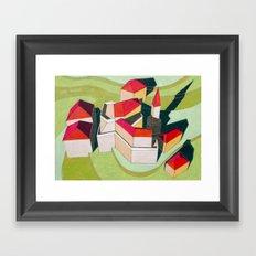 virtual model Framed Art Print