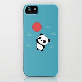 Kawaii Cute Panda Flying iPhone Case
