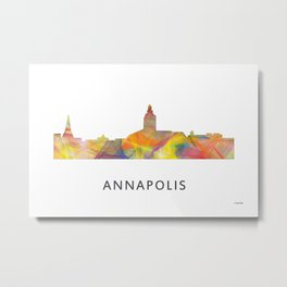 Annapolis, Maryland Skyline BG Metal Print