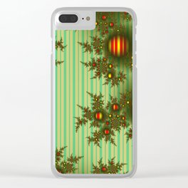 Vintage Christmas fractal Clear iPhone Case