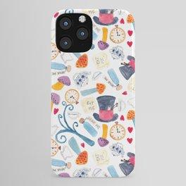 Alice in Wonderland - pattern iPhone Case