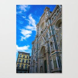 Entrance To The Duomo di Firenze Canvas Print