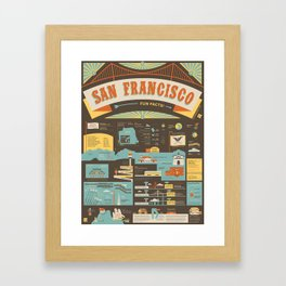 San Francisco Infographic - 59 Illustrated Facts Framed Art Print