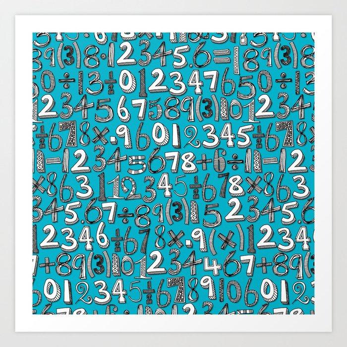 math doodle blue Art Print by sharonturner | Society6