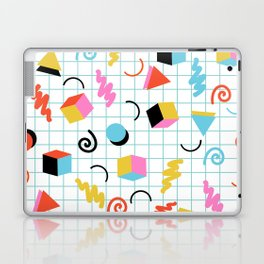 Clutch - memphis 80s style retro throwback cubes geometric triangles 1980's pattern Laptop & iPad Skin